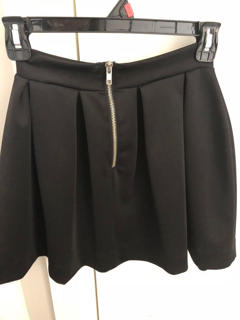Black Scuba Skirt NASTY GAL