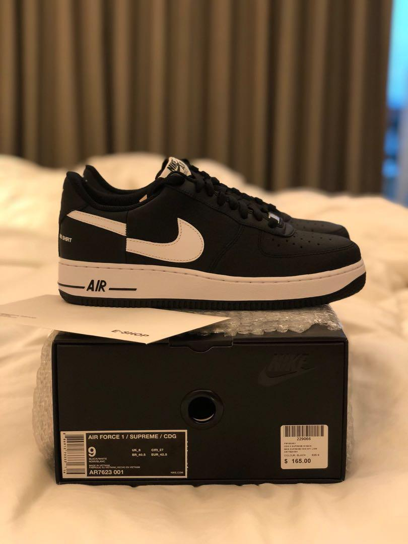 low priced 5d85b f39cf BNIB Nike x Supreme x Comme Des Garcons CDG Air Force 1 Low ...
