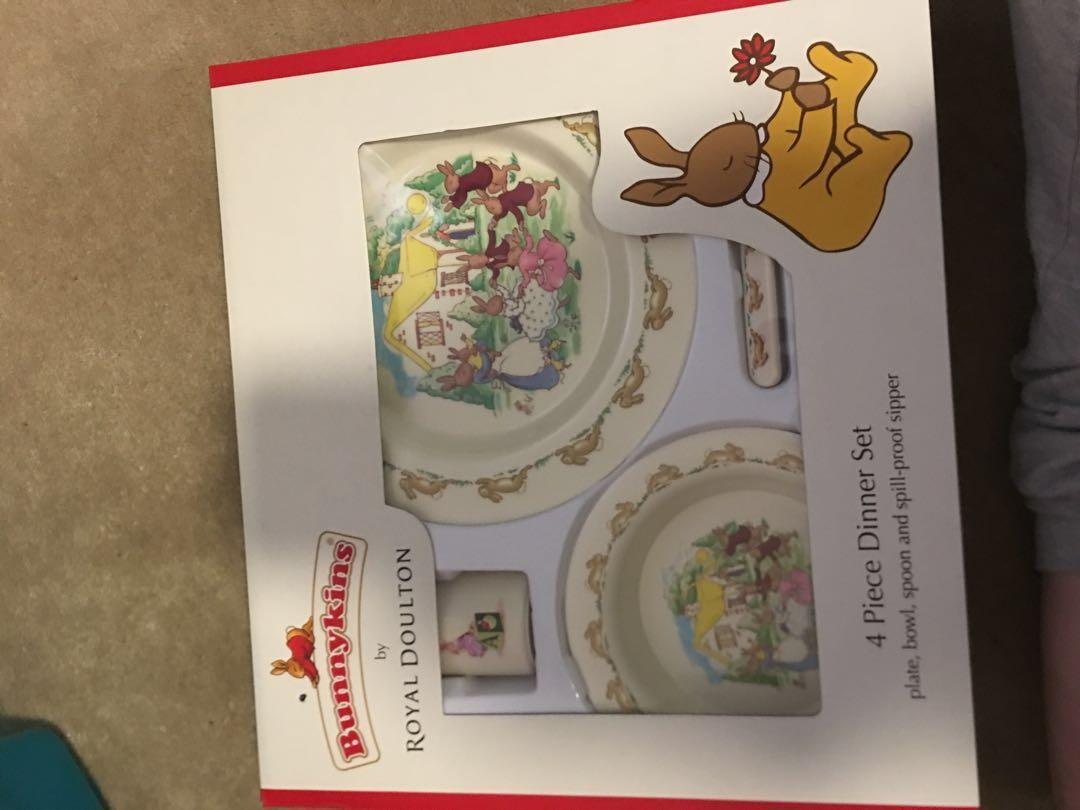 Bunnykins by Royal Doultan - 4 piece dinner set. Price negotiable