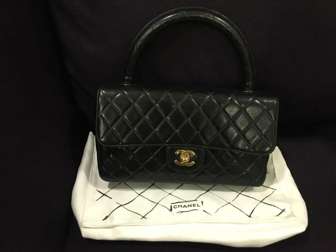c20b4c0dd195 Chanel Vintage Lambskin Kelly Bag