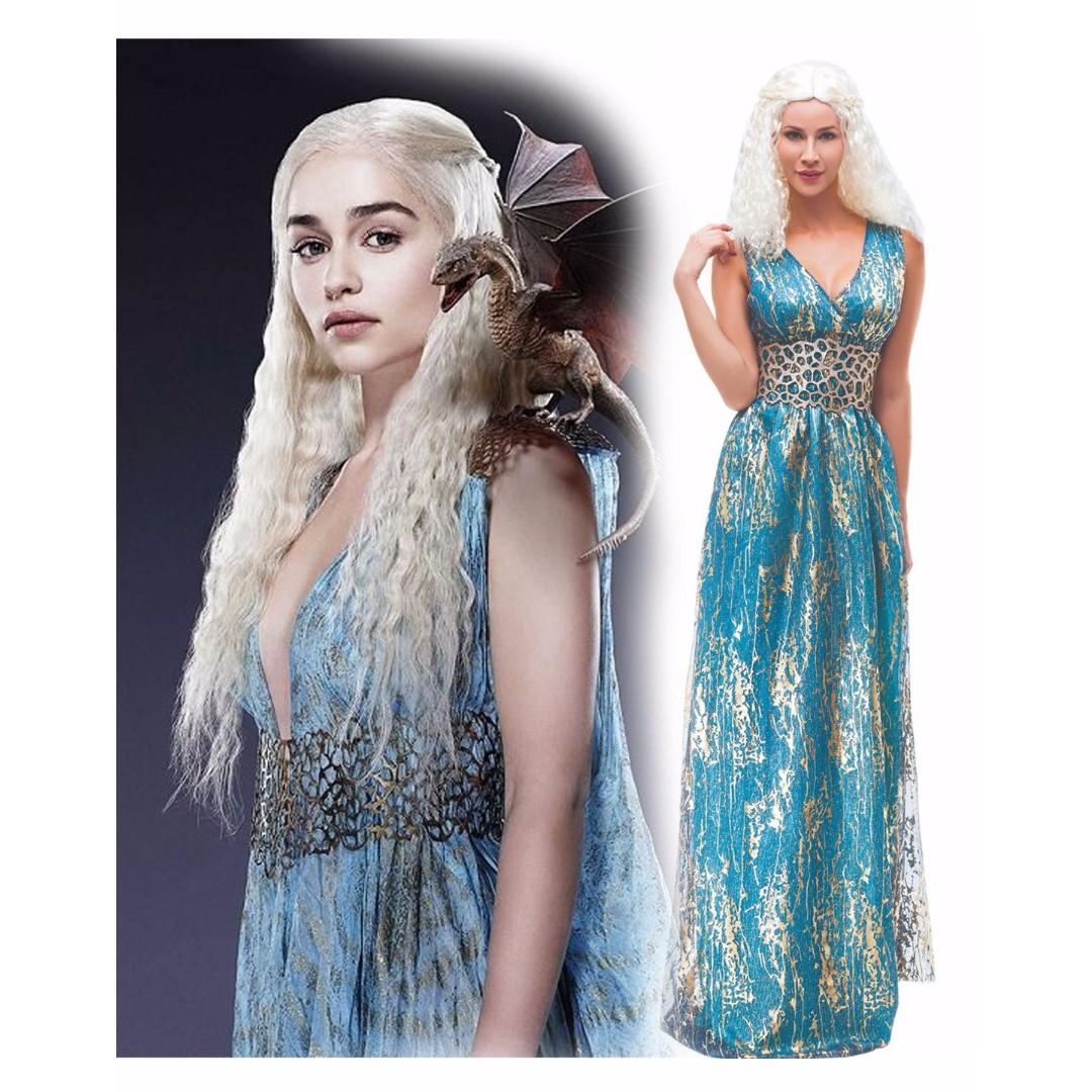 (Chrismas discount)Game of Thrones Daenerys Targaryen Costume Dress for Cosplay
