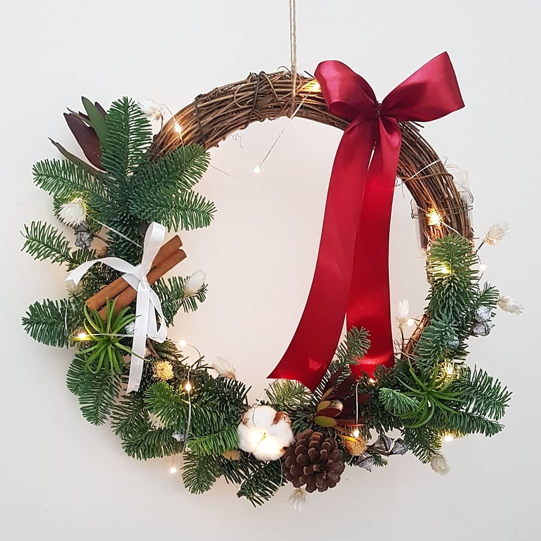Christmas Wreath Workshop Gardening Flowers Bouquets On Carousell