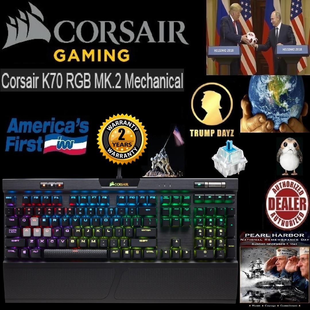 CORSAIR K70 RGB MK 2 Mechanical Gaming Keyboard - Cherry Blue  ,