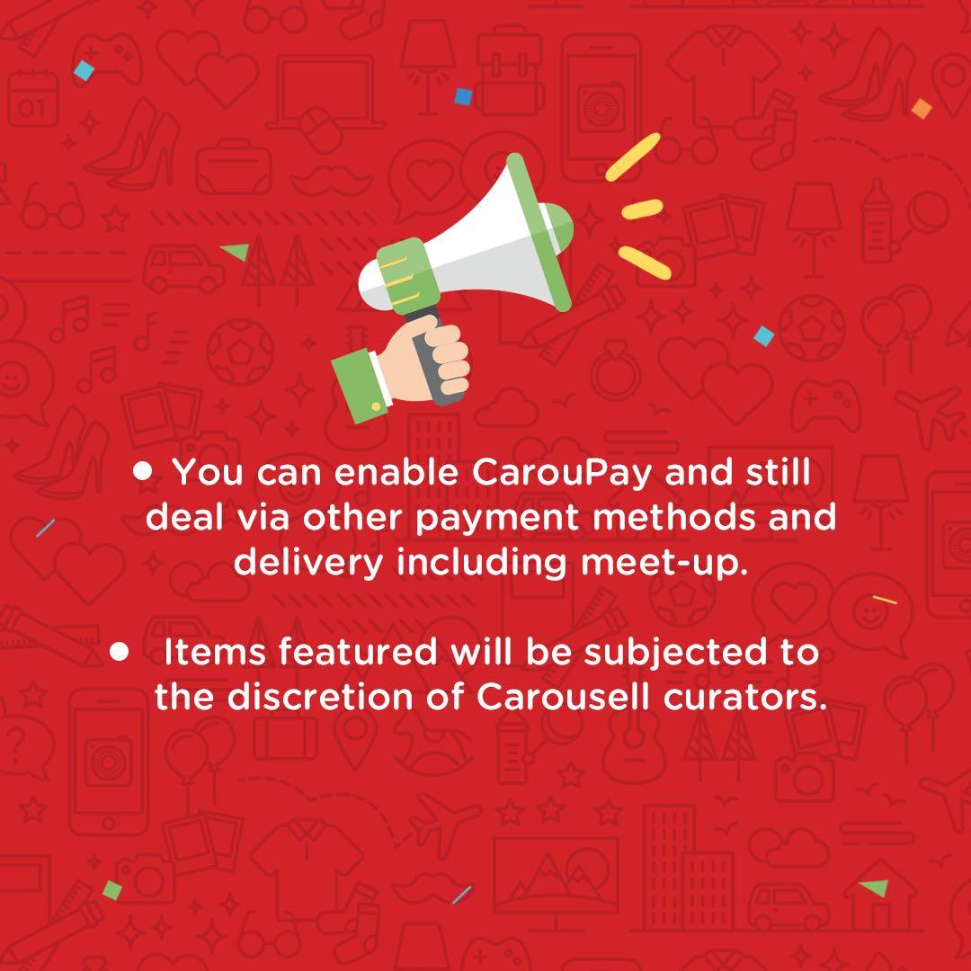 Enable CarouPay and increase your chances of sales!