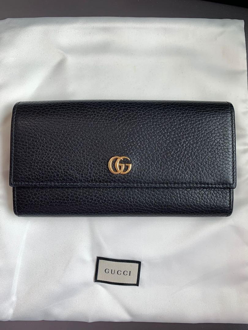 453e63669fb7 GUCCI Long Wallet {PETITE MARMONT LEATHER}, Women's Fashion, Bags ...
