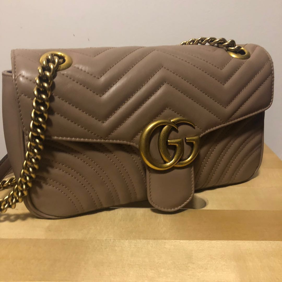 3ba0f6ef4fe4a8 Gucci Marmont flap bag in small size, Women's Fashion, Bags ...