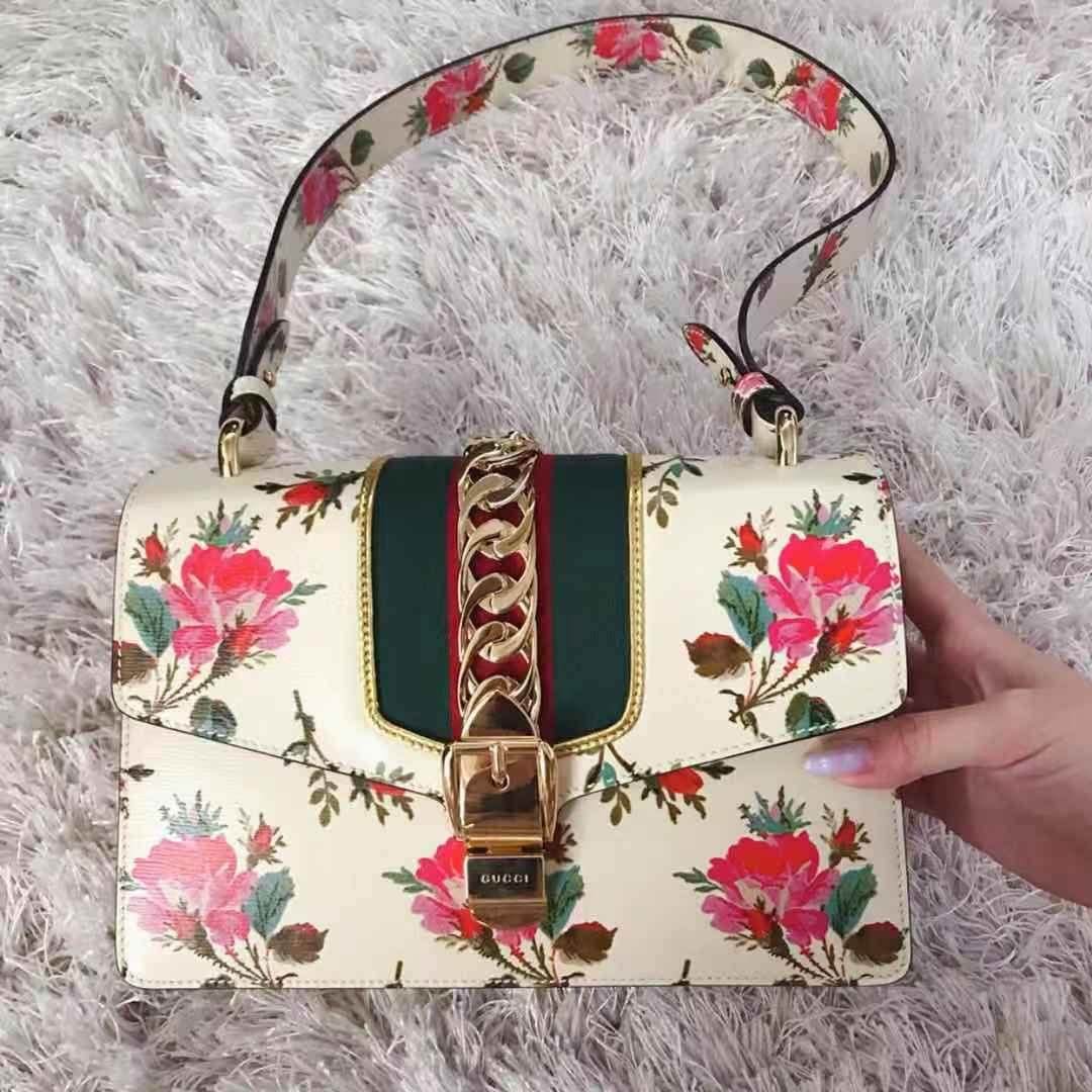 aa7654d1927a GUCCI Sylvie floral print top handle bag ( SUMMER LIMITED EDITION ...