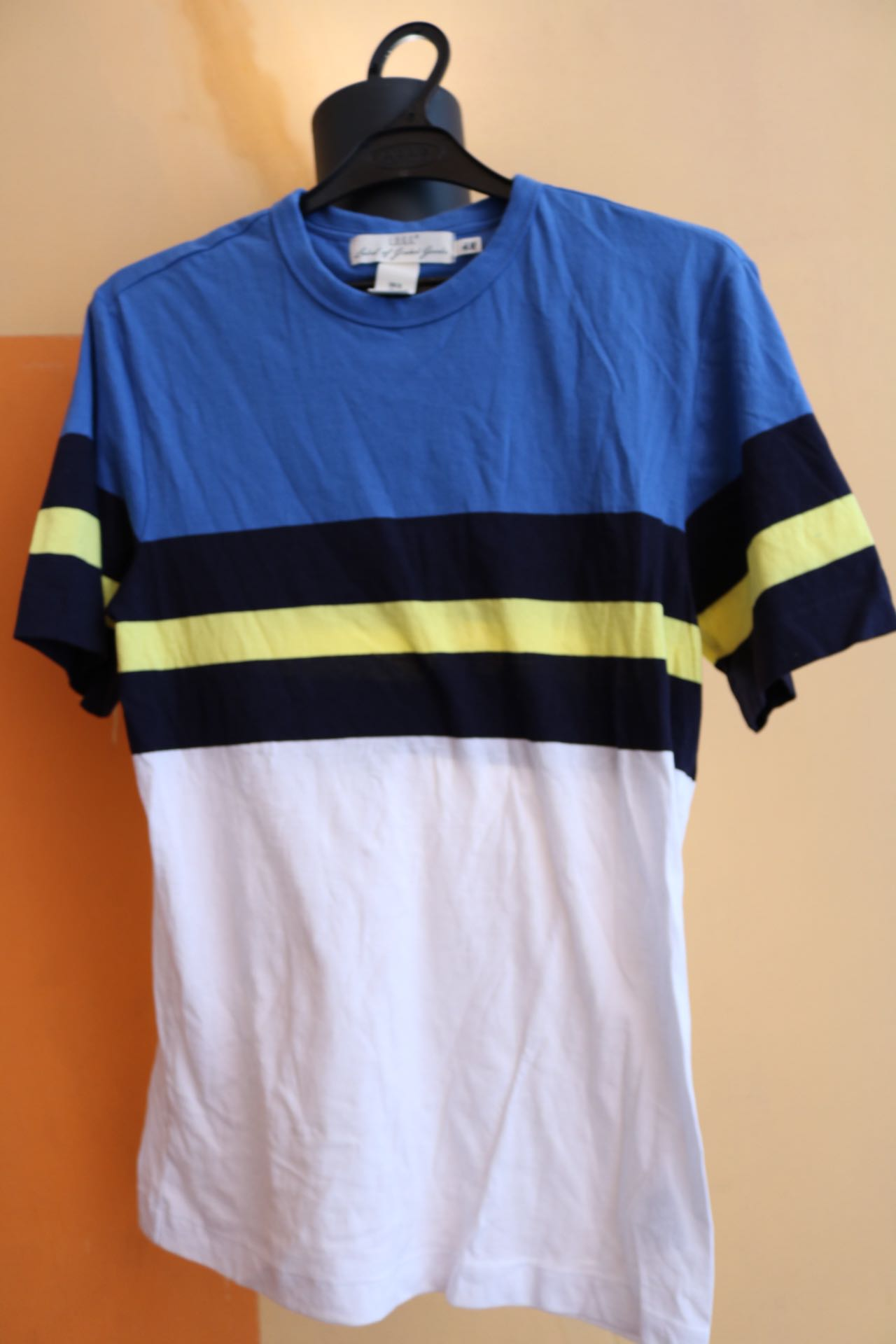 4360b25bf41 H M blue white stripe tees