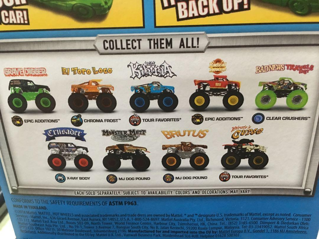 Hotwheels Monster Jam Toys Games Action Figures Collectibles On Carousell
