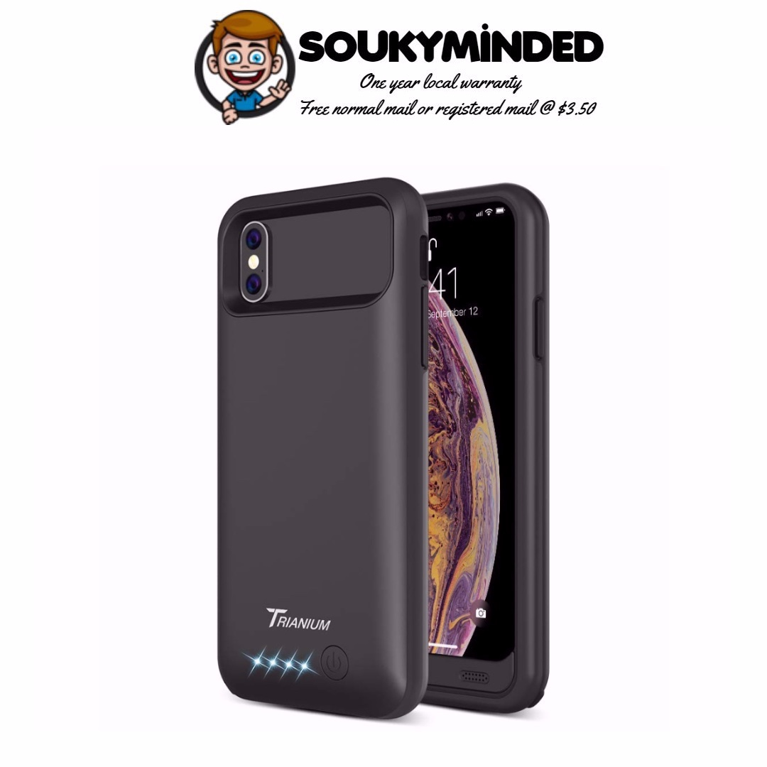 timeless design 3f1c8 d95a6 [IN-STOCK] Trianium Atomic Pro Battery Case for iPhone Xs/iPhone X (5.8