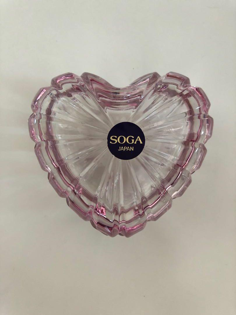 Japan Soga glass heart shaped box