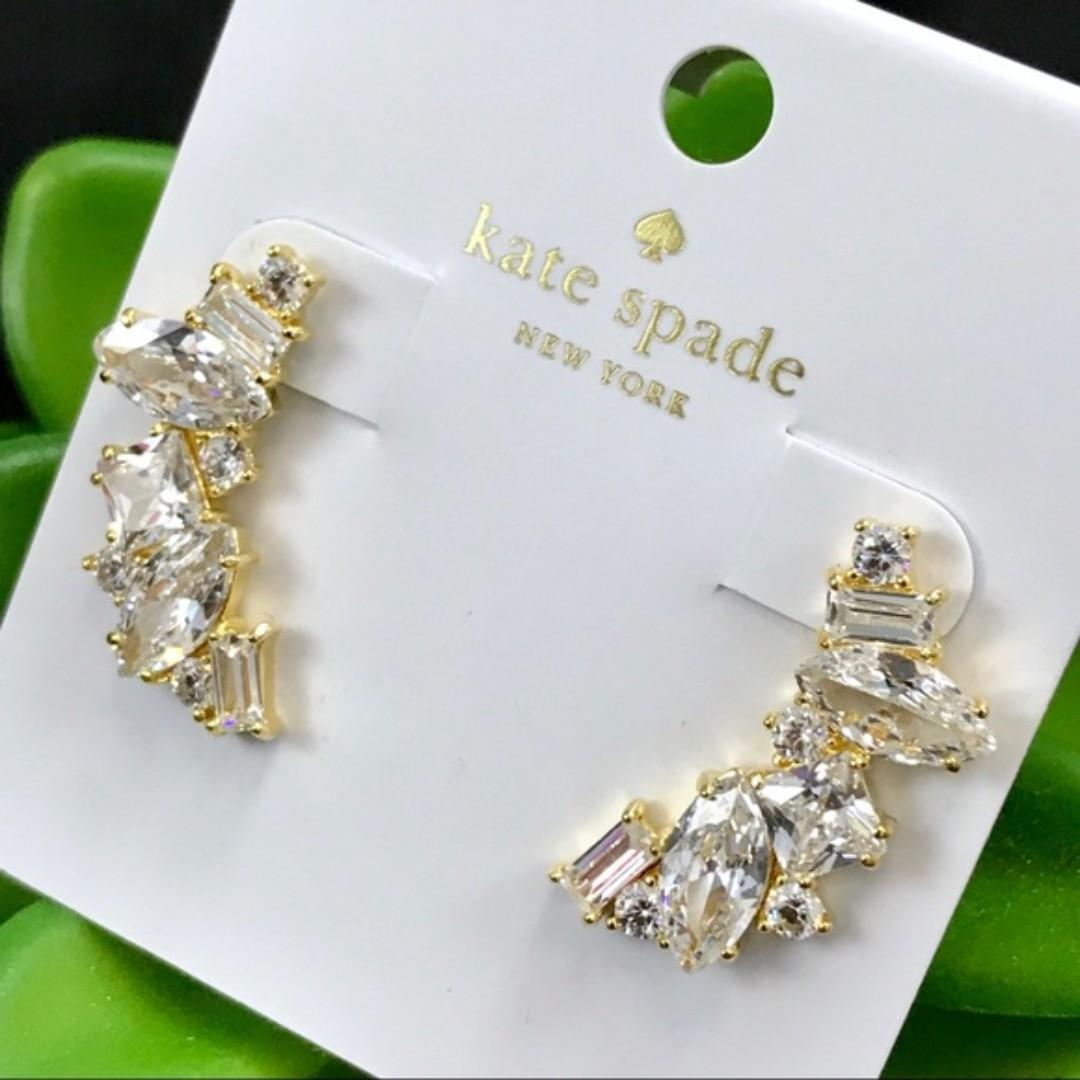 aliexpress price reduced various styles Kate Spade New York Cluster Crawler Earrings In Gold (LAST INSTOCK ...