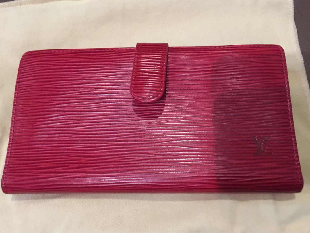 8ccef2881f6 LOUIS VUITTON Epi Continental French Purse Wallet Rouge Red on Carousell
