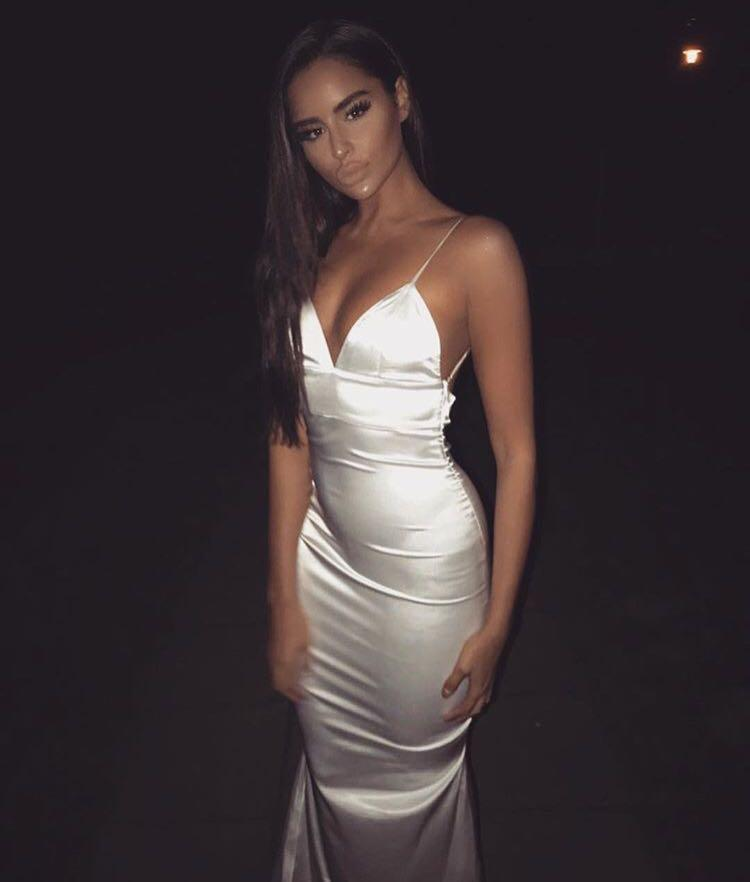 Meshki satin formal dress