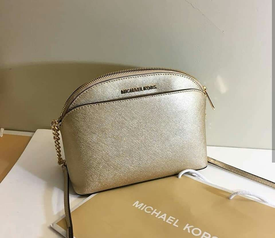 9e53f02f6fa7 MICHAEL KORS EMMY MEDIUM CROSSBODY LEATHER, Luxury, Bags & Wallets ...