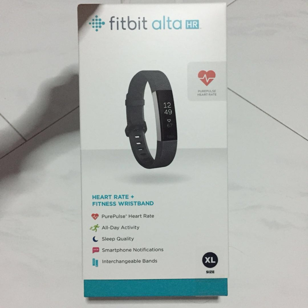 1c7def89363 NEW Fitbit Alta HR Black XL, Electronics, Others on Carousell