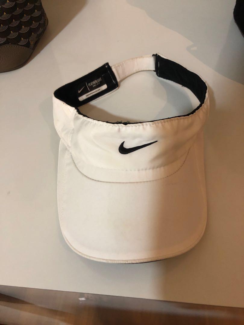 8bc3fa07 Nike sun visor white, Sports, Sports Apparel on Carousell