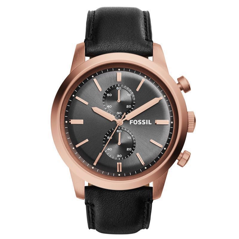 94572d349ac OFFER - Fossil Men s FS5097 Townsman Chronograph Rose Gold-Tone ...
