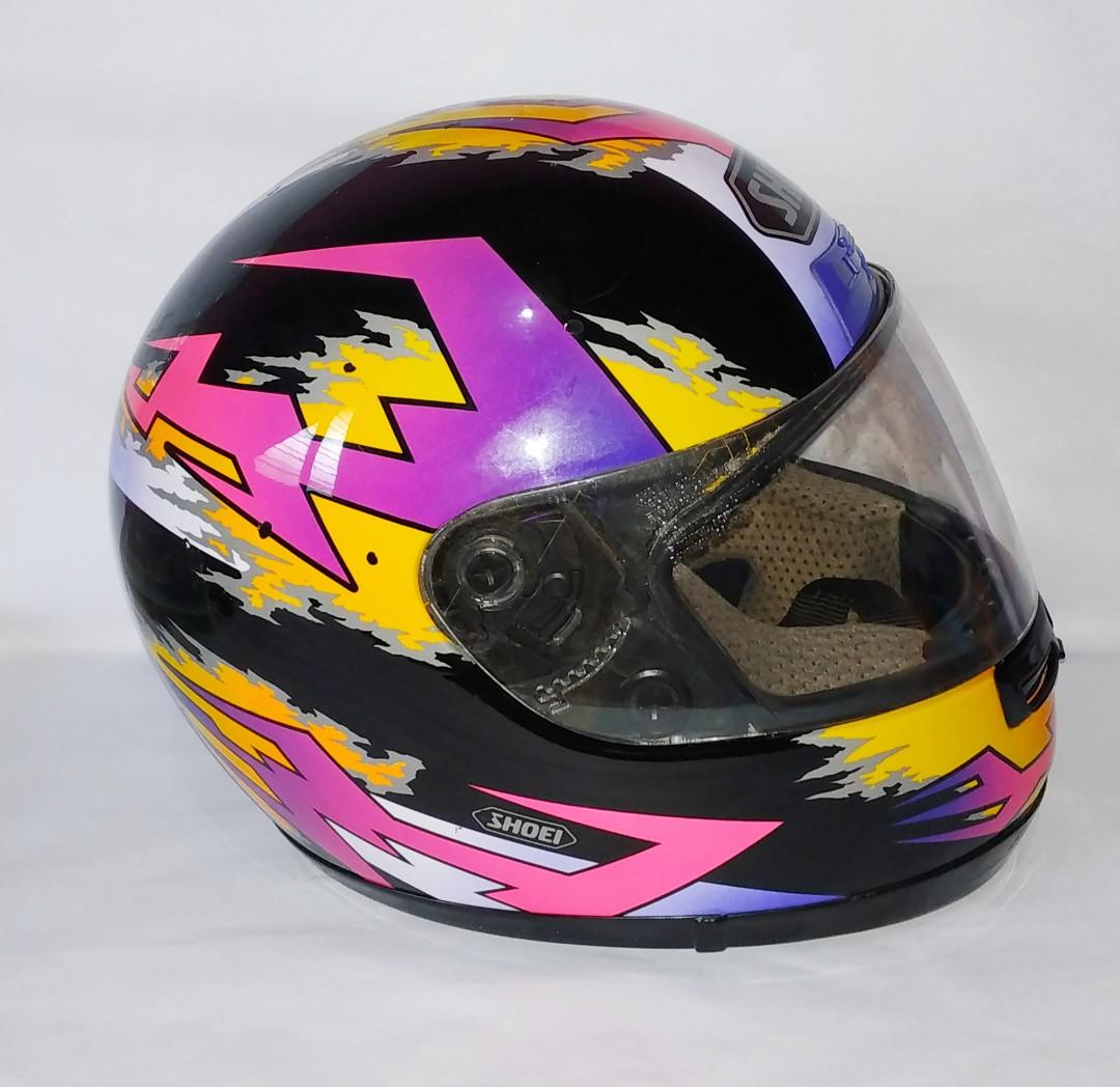 887a608d Original Fullface Helmet Shoei Rf 700, Motor di Carousell