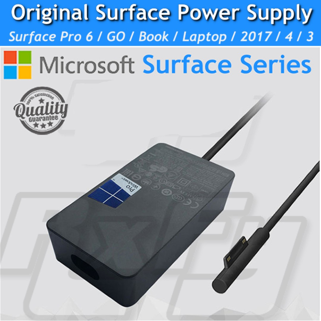 *ORIGINAL* Power Supply for Microsoft Surface Pro 6 / 5 2017 / GO / Pro 3 4  / Book / Laptop / 65W 15v 4a AC Adapter Charger