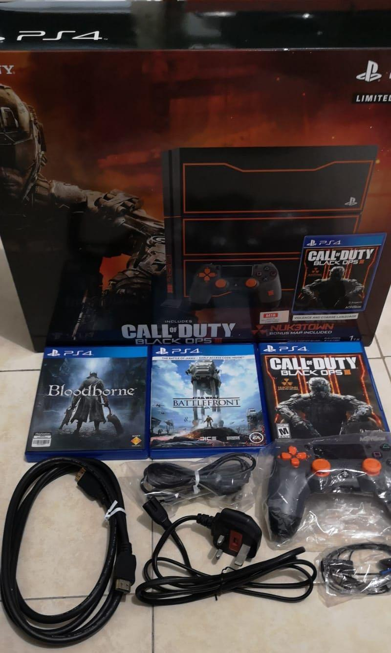 Playstation 4 1tb Call Of Duty Black Ops 3 Limited Edition Console
