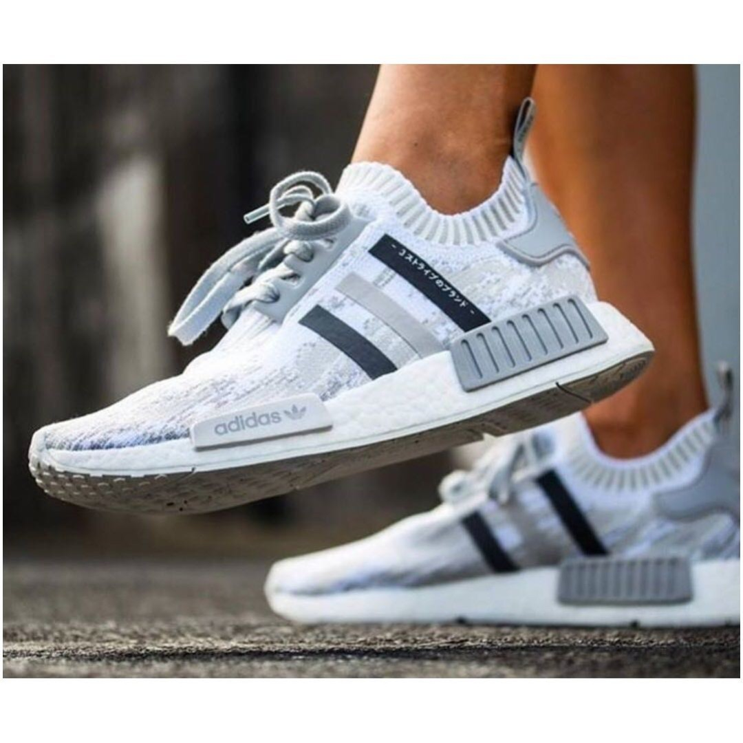 b0e560b33 PO) Adidas Womens NMD R1 Primeknit Japan White Camo Glitch
