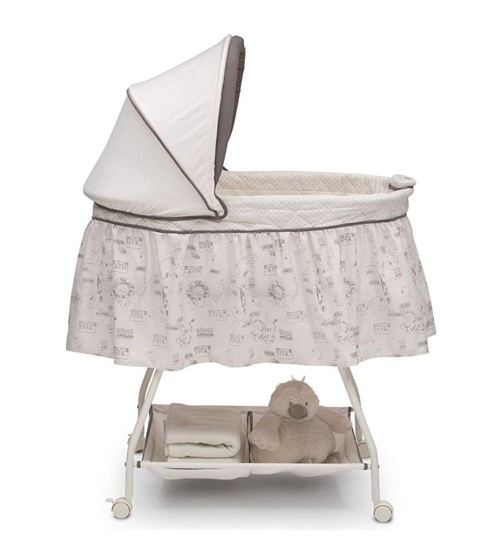 f349e7677540 PO) BN Delta Children Deluxe Sweet Beginnings Bassinet with ...