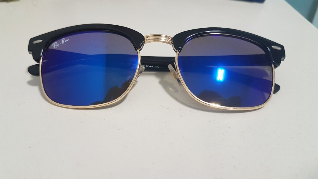 e63883dc1ebc7 ... best ray ban clubmaster blue flash mens fashion accessories eyewear  sunglasses on carousell ce7f7 40a69