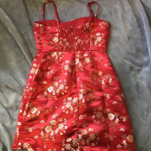 RED MINI DRESS FASHION NOVA