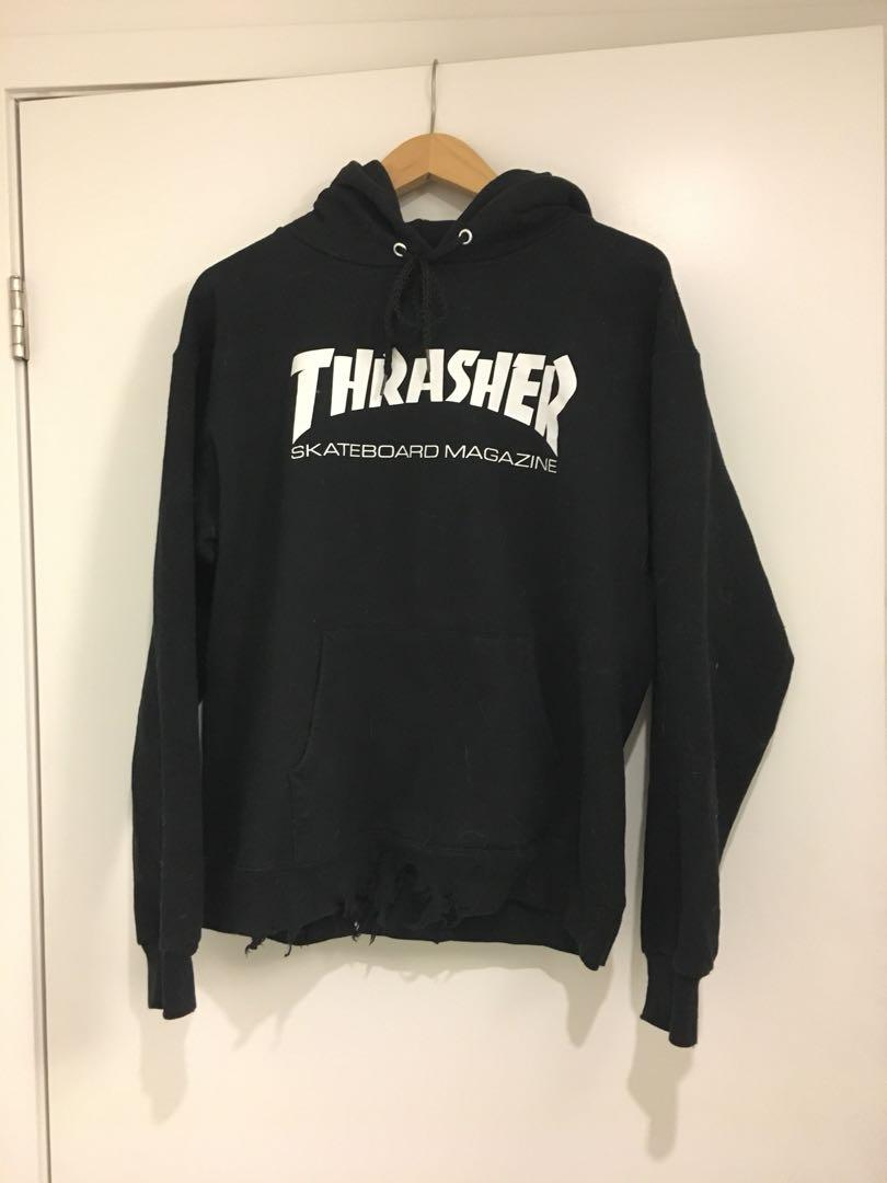 RIPPED THRASHER SWEATER, SIZE S