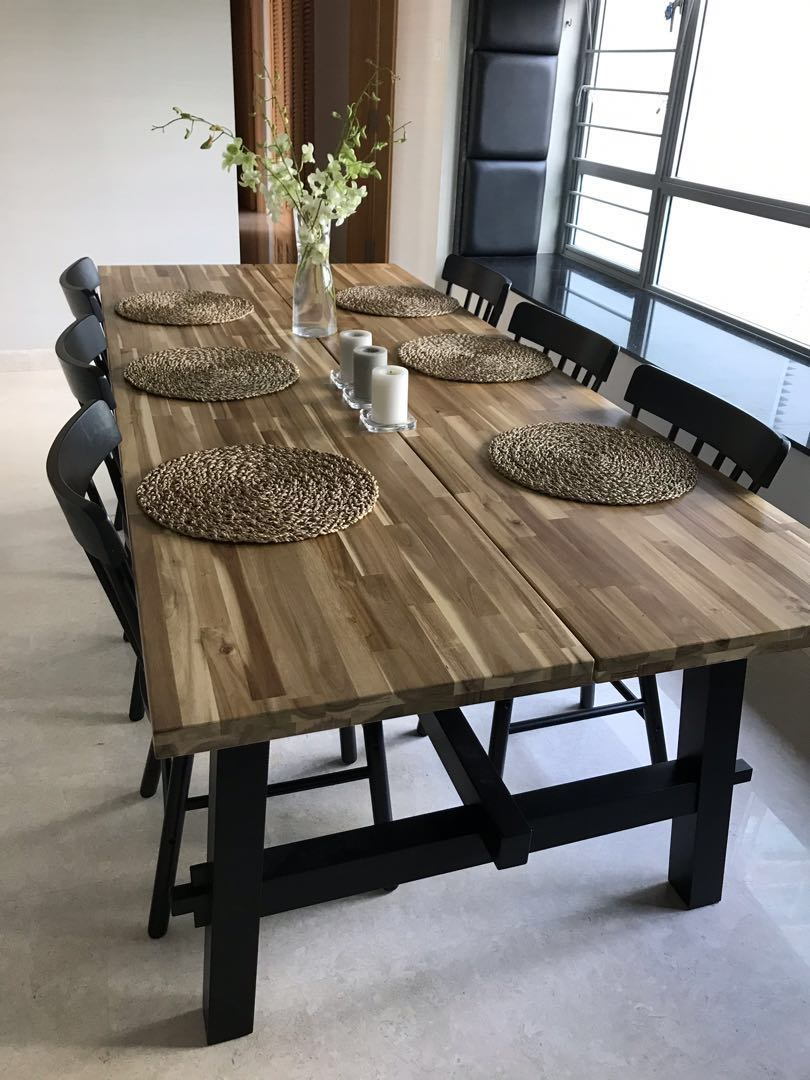 Skogsta Dining Table With 6 Chairs Furniture Tables