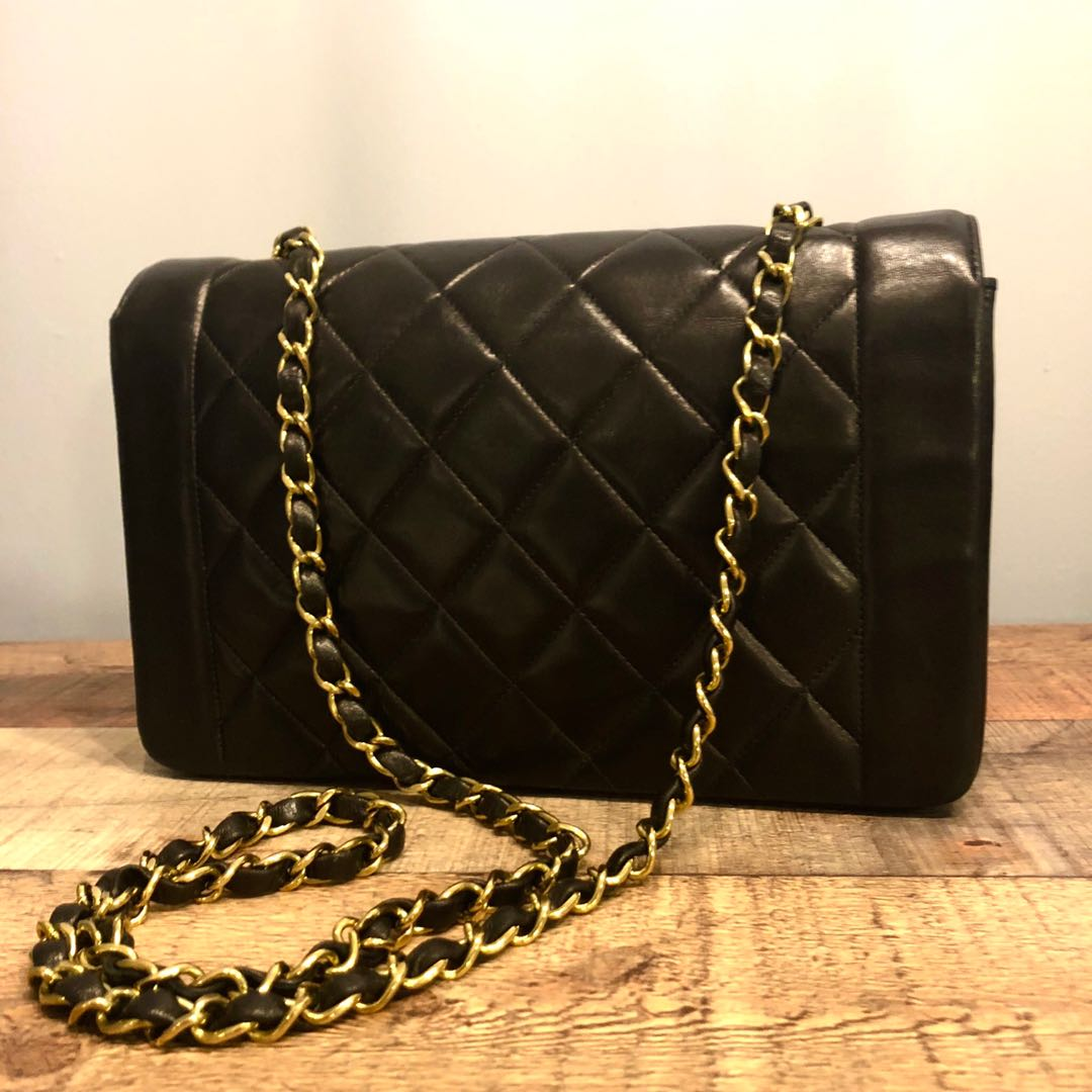 e3845aaf7bd9de SOLD BEFORE LISTING: Authentic Chanel 10 Inch Diana Flap with 24k ...