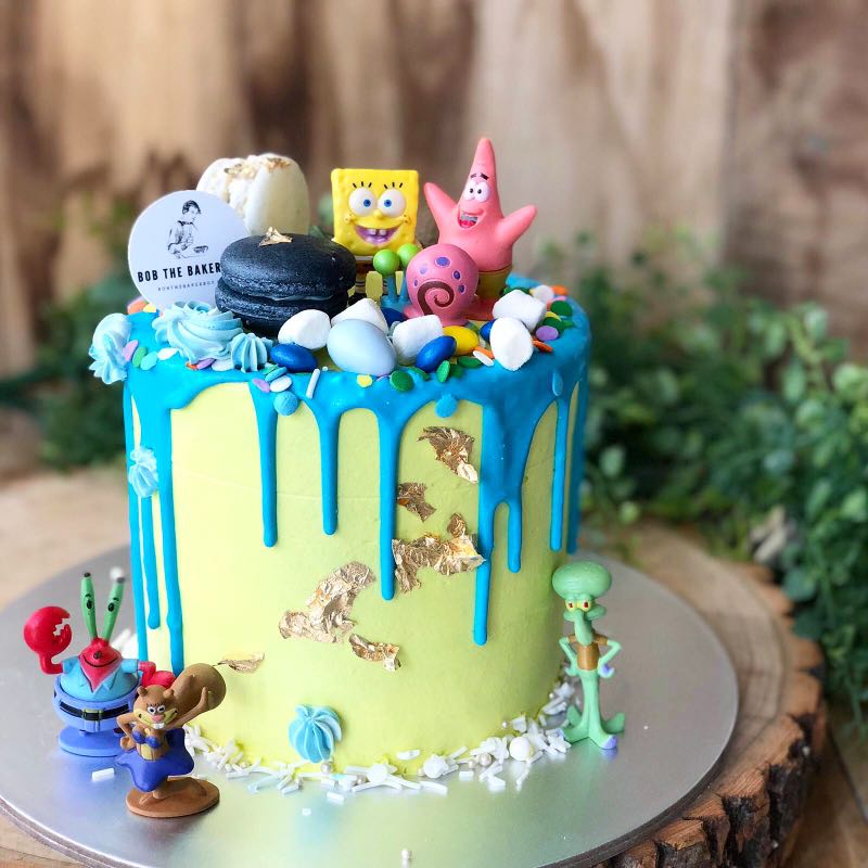 Spongebob Themed Cake Customised Cakes Kids Birthday FREE