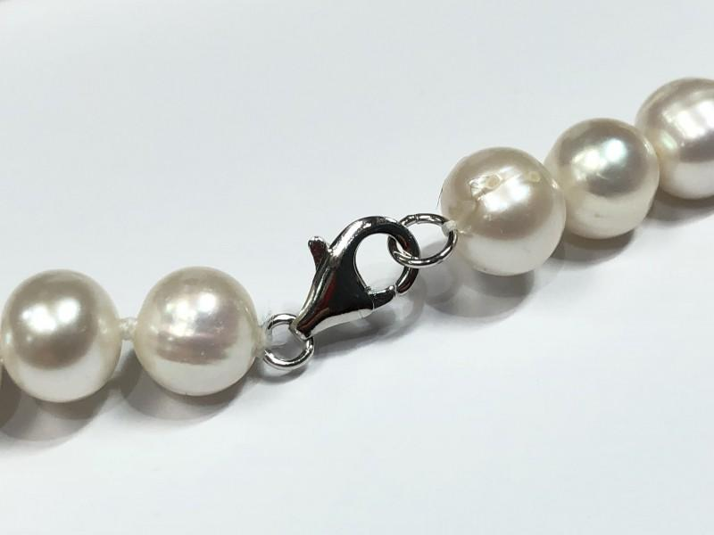 Stamped 925 Silver Clasp Freshwater Pearl Necklace