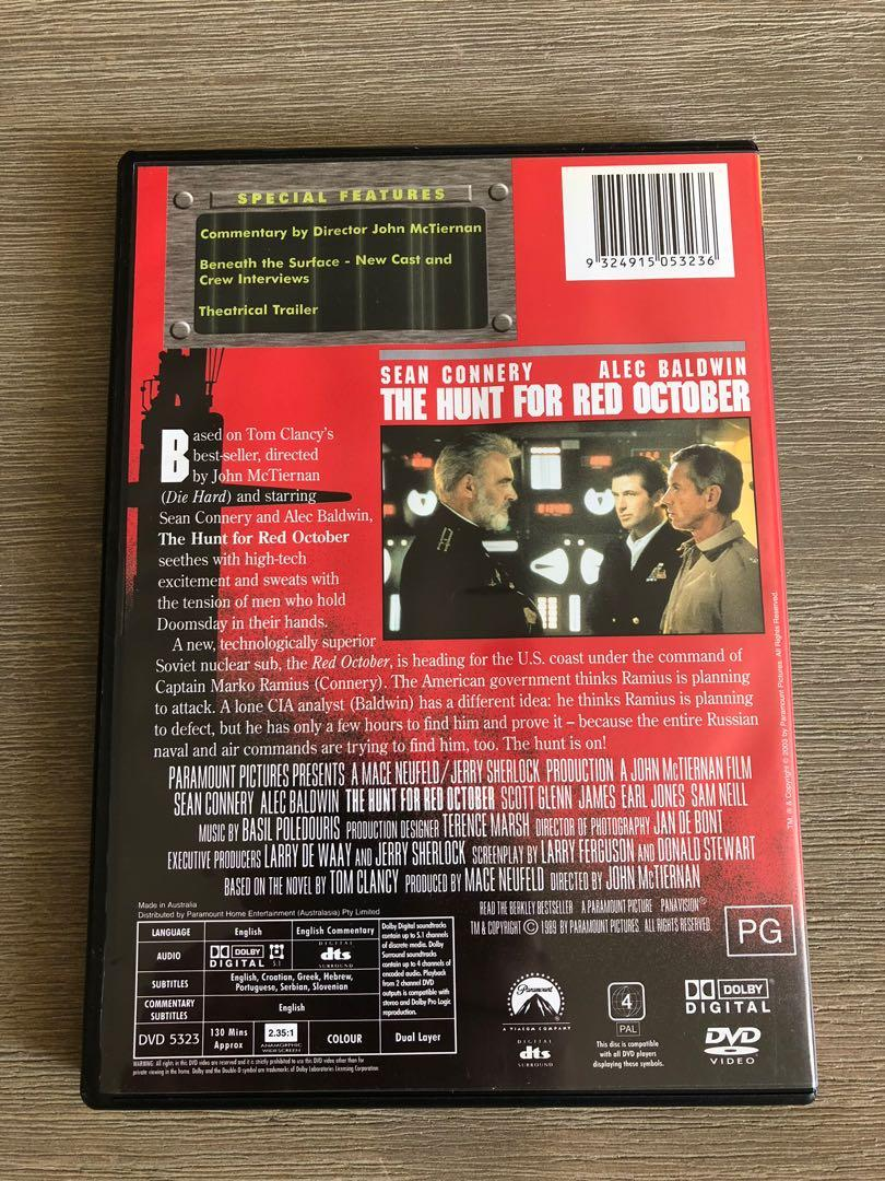 The Hunt For Red October DVD starring Sean Connery