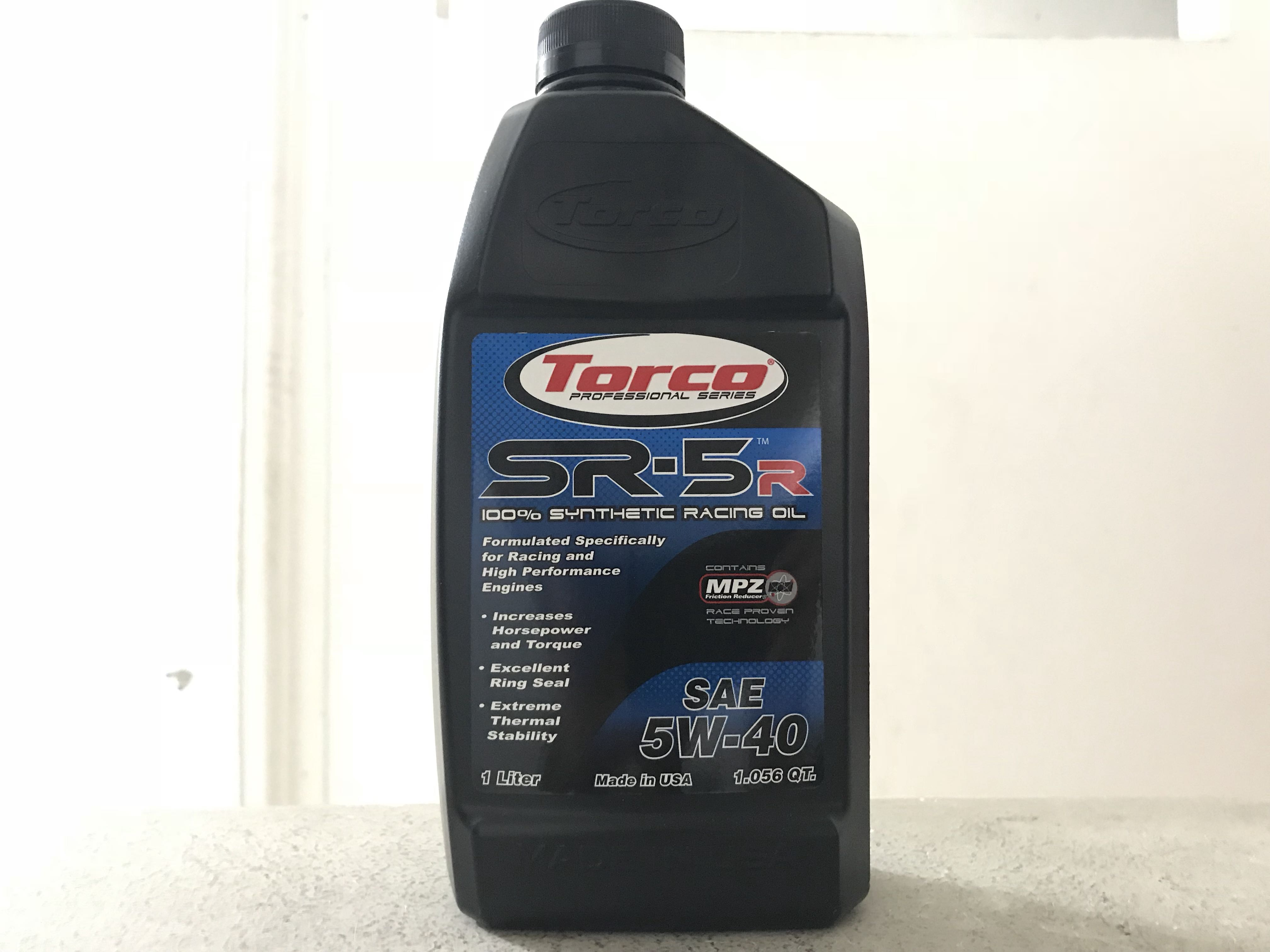 Torco SR-5R 5W-40 1 Liter Fully Synthetic Engine Oil
