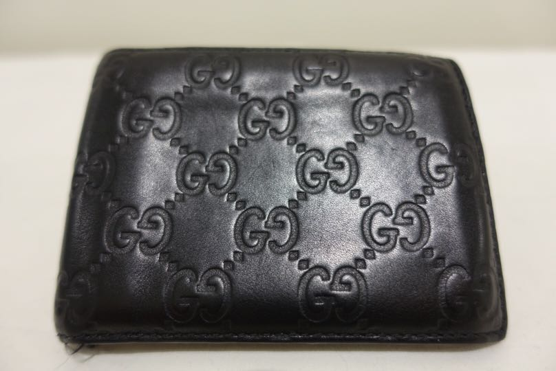 9418834d4f7 Used Genuine Gucci Signature Black Leather Wallet