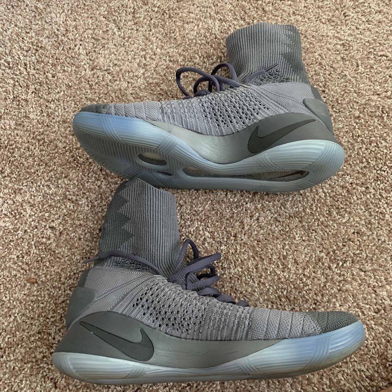 415ebbb88197 Used  Nike Hyperdunk 2016 Elite Flyknit Dark Grey US 11.5