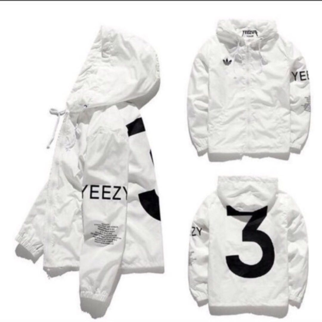 3498d15e0 White YEEZY x ADIDAS Windbreaker, Men's Fashion, Clothes, Outerwear on  Carousell