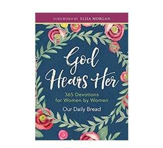 ~Ready Stock~ BN God Hears Her: 365 Devotions for Women by Women Devotionals by Our Daily Bread Ministries