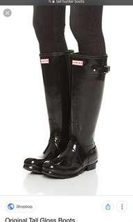 Hunter Boots size 6 original tall gloss