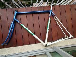 Vintage steel bicycle frame Eddy Merckx Corsa Extra Columbus SLX