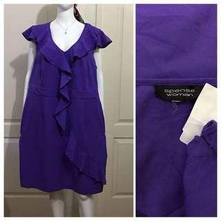 NC113 Spense Woman indigo raffled dress