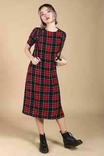🚚 YoungHungryFree Caught On You Plaid Midi Dress (YHF)