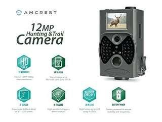 Amcrest 12MP Game & Trail Camera 2″ LCD screen, 100° FOV, 65 ft Night Vision, Highly Sensitive Motion Detection, Detachable Laser Remote (ATC-1201G)