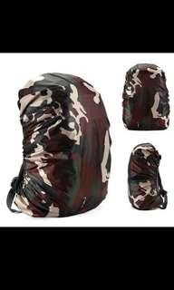 Waterproof Bag Cover Black Army Camo Style Trendy Rain Rainy Season (35L)