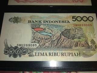 uang kertas 5.000 th 1998