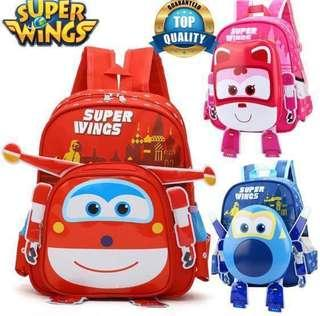 PO Super Wings 3D Hardcover Backpack 🎒
