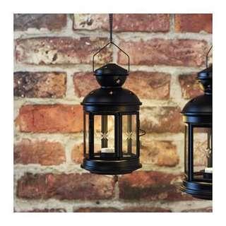 ROTERA - Lantern for tealight - Black 2 Pieces (Set)