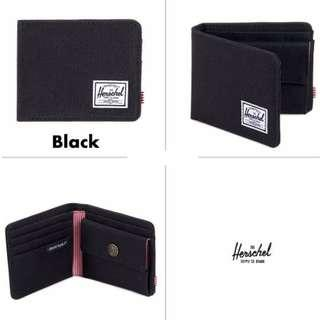 [Instocks!] Herschel Bi-Fold Roy Coin Wallet (Black)